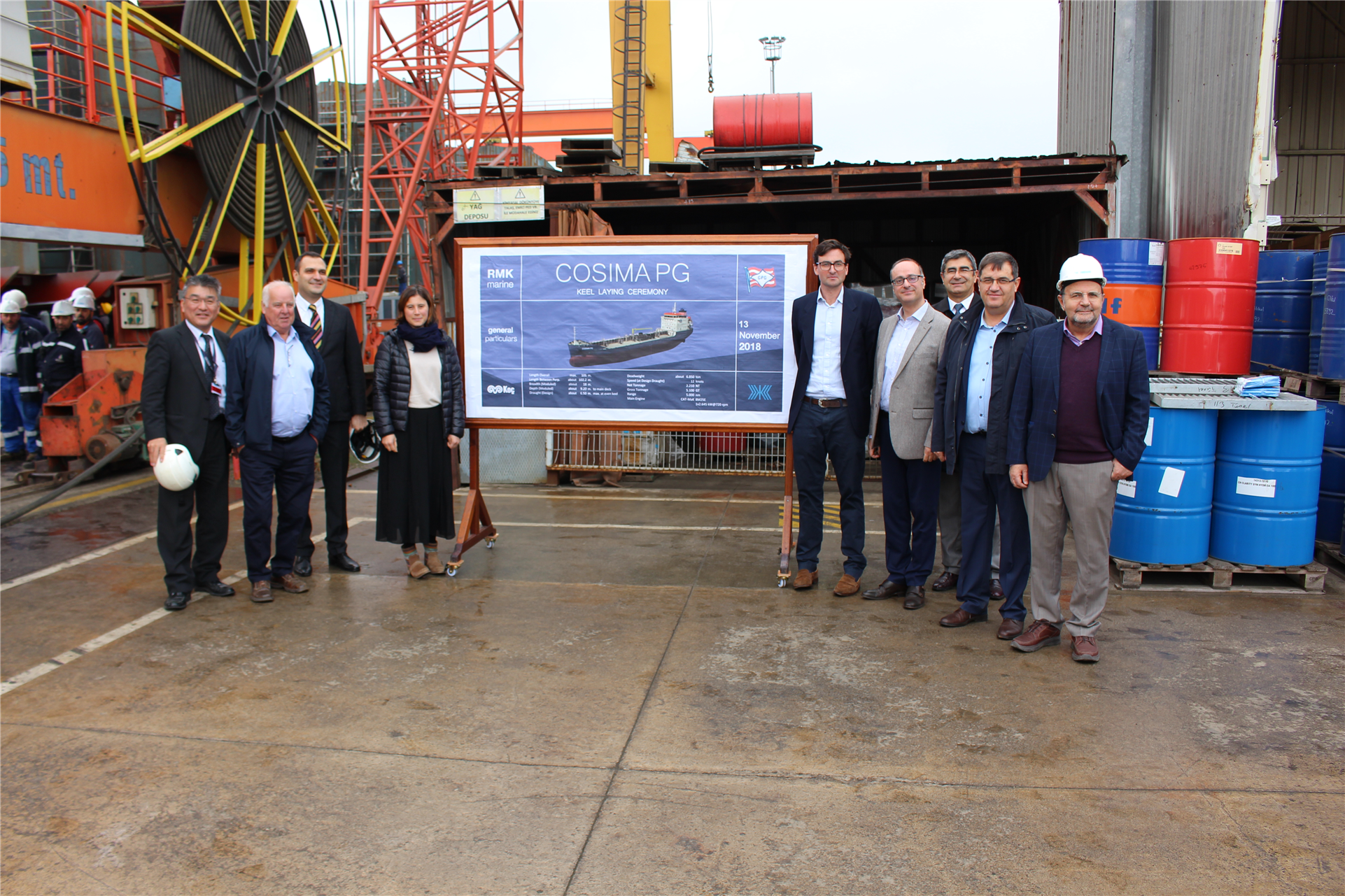 The Keel Laying Of Cosima Pg Was Conducted Successfully